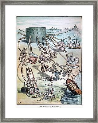 Standard Oil Cartoon Framed Print by Granger