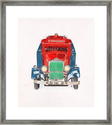 Standard Oil Tanker Framed Print by Glenda Zuckerman