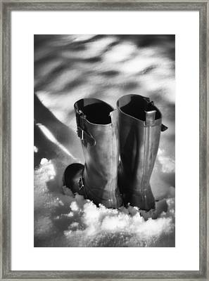 Standing In The Shadow Framed Print by Wim Lanclus