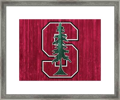 Stanford Barn Door Framed Print by Dan Sproul
