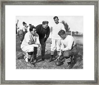 Stanford Coach Pop Warner Framed Print by Underwood Archives