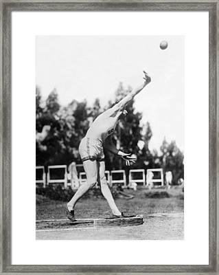 Stanford Field Star Hartranft Framed Print by Underwood Archives