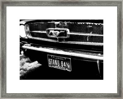 Stang Framed Print by Kenneth Krolikowski