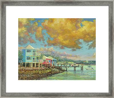 Staniel Cay Sunset Framed Print by Danielle Perry