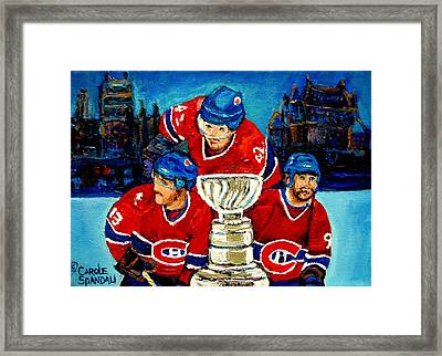 Stanley Cup Win In Sight Playoffs   2010 Framed Print by Carole Spandau