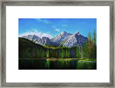 Stanley Lake Reflections Framed Print by C Steele