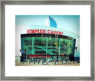Staples Center Color Framed Print by Ariane Moshayedi