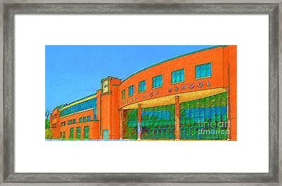 Staples High School Framed Print by DJ Fessenden