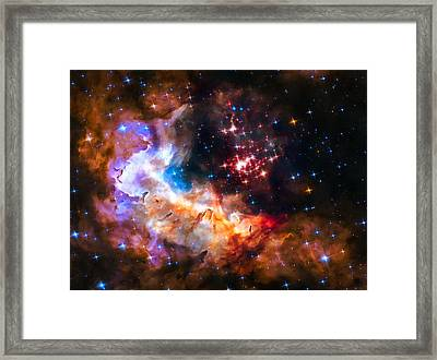 Star Cluster Westerlund 2 In Outer Space Framed Print by Matthias Hauser