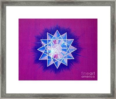 Star Crystal Framed Print by Shasta Eone