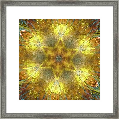 Star Kaleidoscope Framed Print by Wim Lanclus