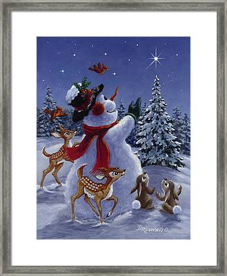 Star Of Wonder Framed Print by Richard De Wolfe