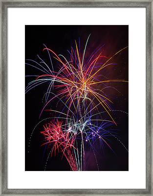 Star Spangled Fireworks Framed Print by Garry Gay