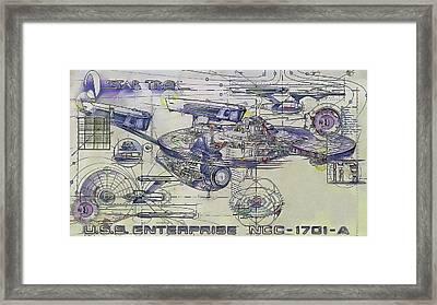 Star Trek  -  U.s.s. Enterprise Framed Print by Nenad Cerovic