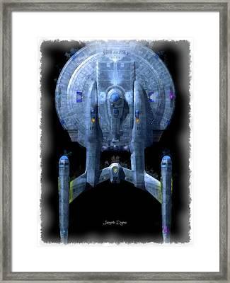 Star Trek Enterprise Top Framed Print by Leonardo Digenio