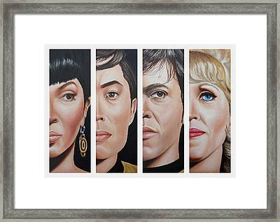 Star Trek Set Two Framed Print by Vic Ritchey