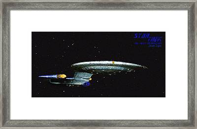 Star Trek The Next Generation - Da Framed Print by Leonardo Digenio