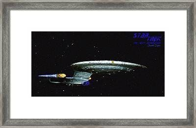 Star Trek The Next Generation Framed Print by Leonardo Digenio