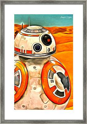 Star Wars Bb-8 Framed Print by Leonardo Digenio