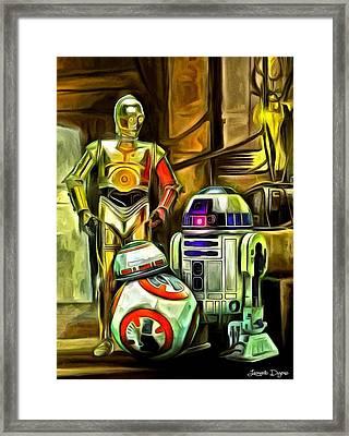 Star Wars Droid Family Framed Print by Leonardo Digenio
