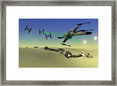 Star Wars Framed Print by Michael Greenaway