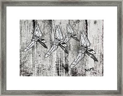 Star Wars Swarm  Framed Print by Andy Walsh