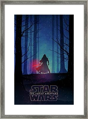 Star Wars - The Force Awakens Framed Print by Farhad Tamim