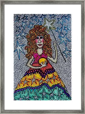 Star Wish  Fairy Framed Print by Gerri Rowan