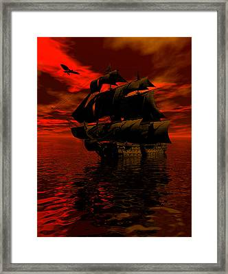 Starboard Tack Framed Print by Claude McCoy