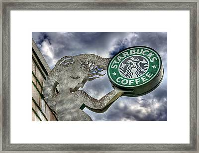 Starbucks Coffee Framed Print by Spencer McDonald