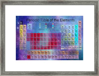 Stardust Periodic Table No.2 Framed Print by Carol and Mike Werner
