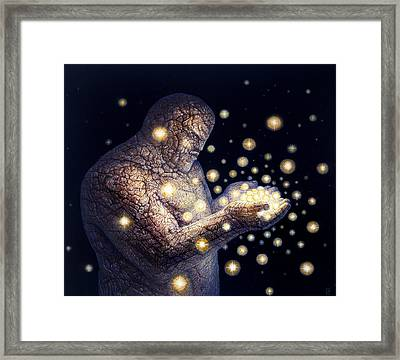 Starfather Framed Print by De Es Schwertberger