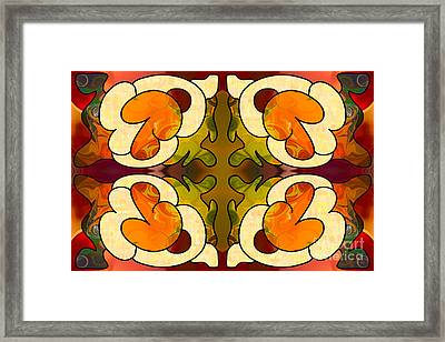 Staring Into The Abyss Abstract Art By Omashte Framed Print by Omaste Witkowski
