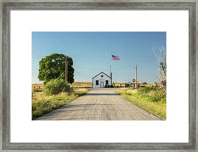 Starr Valley Community Hall Framed Print by Todd Klassy