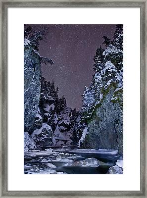 Starry Creek Framed Print by Brandon Broderick
