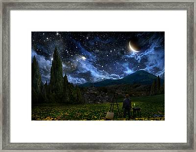Starry Night Framed Print by Alex Ruiz