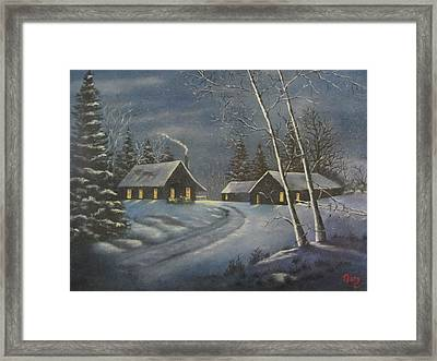 Starry Night Framed Print by Terry Boulerice