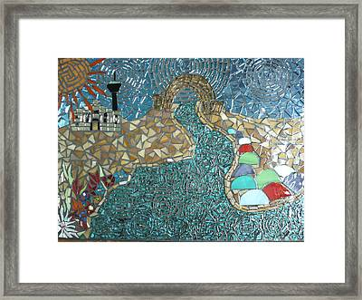 Starry Riverwalk Framed Print by Ann Salas