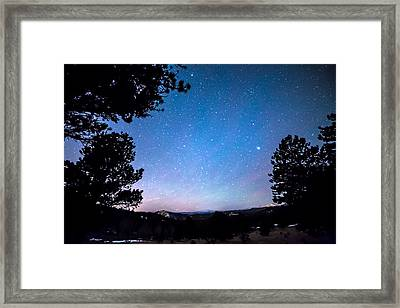 Starry Rocky Mountain Forest Night Framed Print by James BO Insogna