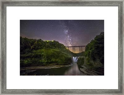 Starry Sky At Letchworth Framed Print by Mark Papke