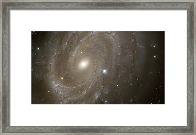 Stars And Spiral Galaxy Framed Print by The  Vault - Jennifer Rondinelli Reilly