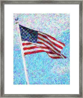 Stars And Stripes Framed Print by Colleen Kammerer