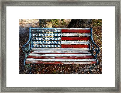 Stars And Stripes Framed Print by M Glisson