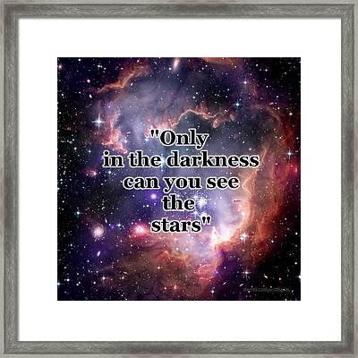 Stars In The Darkness Framed Print by Anastasiya Malakhova