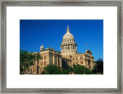State Capitol Building Austin Tx Framed Print by Panoramic Images