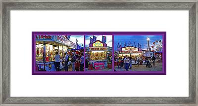 State Fair Triptych Framed Print by Steve Ohlsen