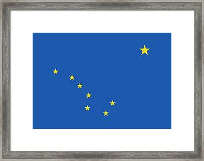 State Flag Of Alaska Framed Print by American School