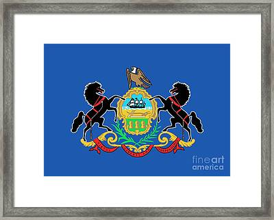 State Flag Of Pennsylvania Framed Print by American School