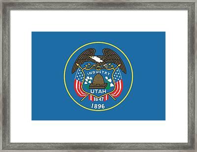 State Flag Of Utah Framed Print by American School