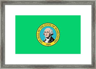 State Flag Of Washington Framed Print by American School